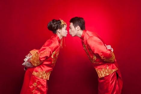 中式禮服龍鳳褂婚紗照-高雄婚攝Spencer