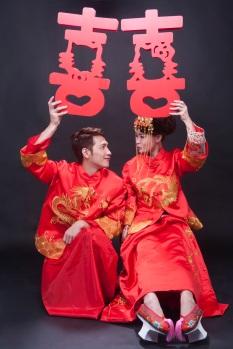 中式禮服龍鳳褂婚紗照